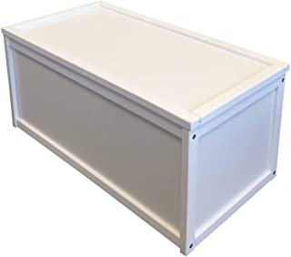 Valdern White Wooden Toy Box Chest Box Storage Unit for Kids Children and Personalised Gifts