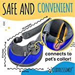 Cuddlissimo! Pet Sling Carrier - Small Dog Puppy Cat Carrying Bag Purse Pouch - For Pooch Doggy Doggie Yorkie Chihuahua Baby Papoose Bjorn - Travel Front Backpack Chest Body Holder Pack To Wear (Blue) 10