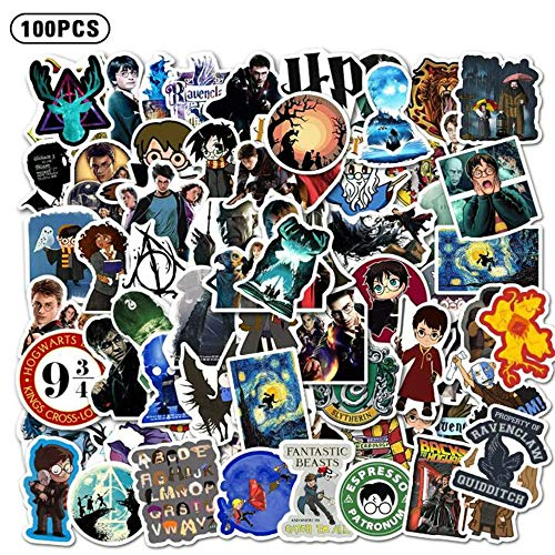 XINJU 100 PCS Magic Stickers and Decals, Water Bottle Travel Case Computer Wall Skateboard Motorcycle Phone Bicycle Luggage Guitar Bike Stickers Decal