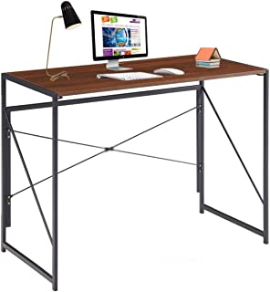 Writing Computer Desk Modern Simple Study Desk Industrial Style Folding Laptop Table for Home Office Notebook Desk Brown D...