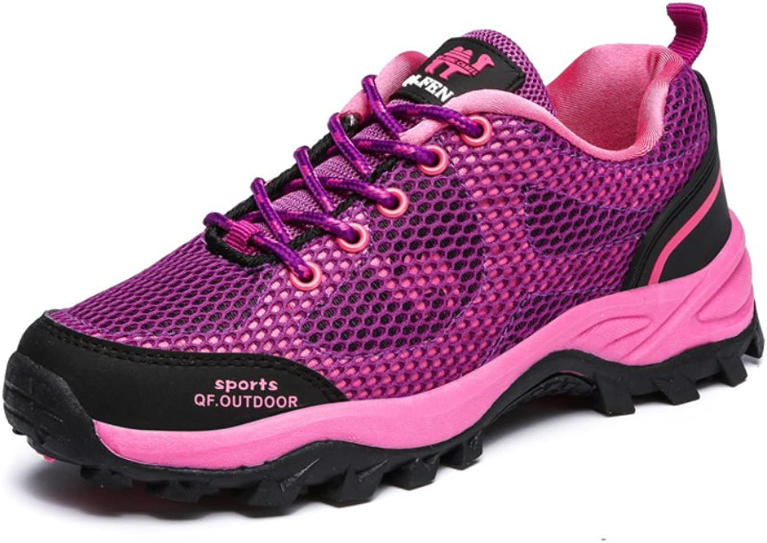 H&D Qifeng Womens Ventilated Outdoor Walking Hiking Trail shoes with Mesh Pink