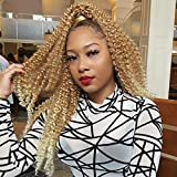 Leeven 18 Inch Ombre Blonde Water Wave Crochet Twist Hair for Butterfly Locs 6Pcs Curly Passion Twist Crochet Hair For Black Women Synthetic Passion Twist Hair T27/613#
