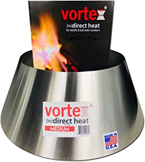 VORTEX (IN)DIRECT HEAT for Charcoal Grills, Medium Size - Fits Weber Kettle 22 26.75 WSM Smokey Mountain XL Kamado XL Big Green Egg
