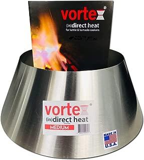 VORTEX (IN)DIRECT HEAT for Charcoal Grills, Medium Size - Fits Weber Kettle 22 26.75 WSM Smokey Mountain XL Kamado XL Big Green Egg