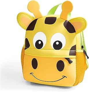 Toddler Backpack, Waterproof Children School Backpack, Neoprene Animal Schoolbag for Kids, Lunch Box Carry Bag for Boys Girls (Giraffe_L)