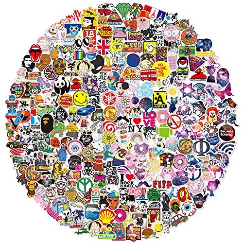 Q-window QWDDECO Lot Autocollant (360-pcs) Autocollants Vinyle Stickers pour Ordinateur Portable, Bouteilles d'eau, Bagages, Phone, Voiture, Cadeaux p