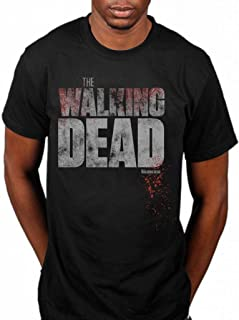 Official The Walking Dead Splatter T-Shirt Horror Drama TV Series Television Zombie