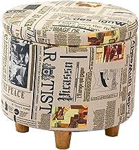 Voetsteun Kruk Opslagstoel, hoge kwaliteit lederen opslag kruk meubels mode schoenen bank effen hout sofa kruk opslag kruk...