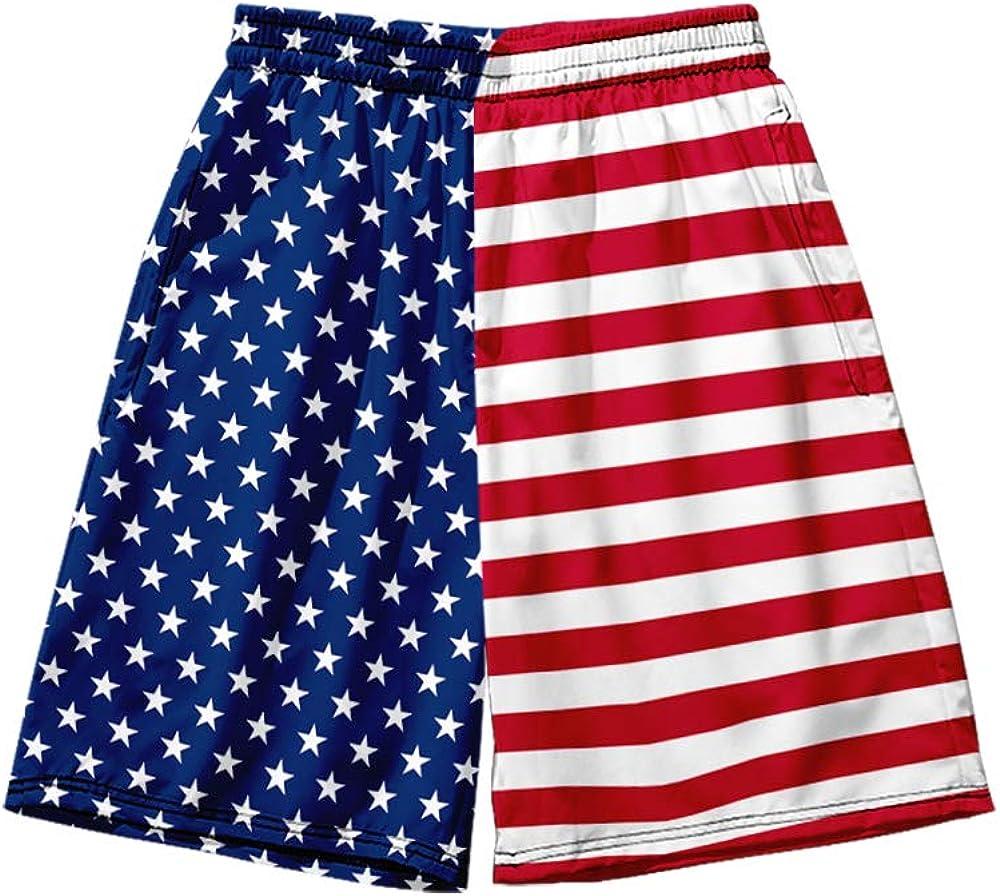 WAWNI Casual The American Flag 3D Shorts Harajuku Beach Sexy Short