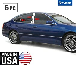 Made in USA! Works with 1998-2002 Lexus GS 300 6 PC Stainless Steel Chrome Pillar Post Trim
