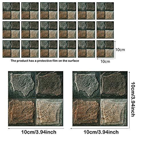 18 stks/set waterdichte keuken tegels sticker mozaïek zwart grijs pvc zelfklevende badkamer muur trap tegel stickers decoraties