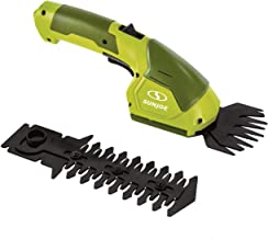 Sun Joe 7.2-Volt 2-in-1 1250-RPM Cordless Grass Shear / Shrubber Handheld Trimmer, Rechargeable On-board Lithium-Ion Batte...