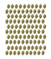 LJY 200個6 mmアンティークスペーサービーズジュエリー作りのためのヨーロッパスタイルのビーズ(ゴールデン)