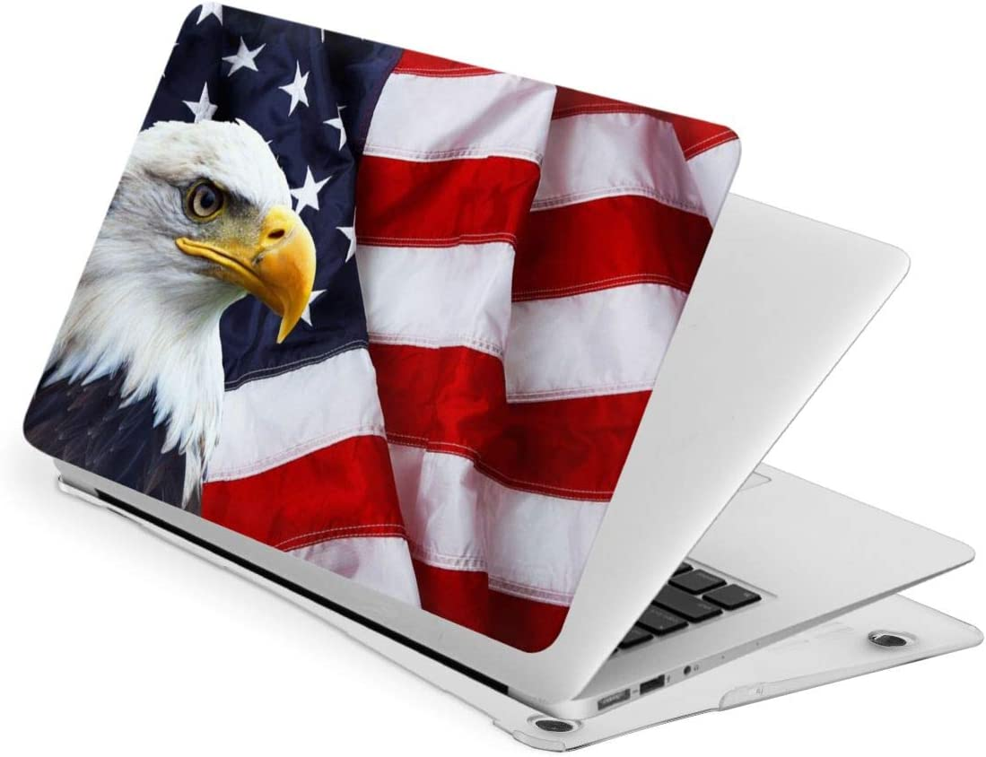 Waving online shopping American Oklahoma City Mall Flag with Bald Compatible Eagle MacBook Air