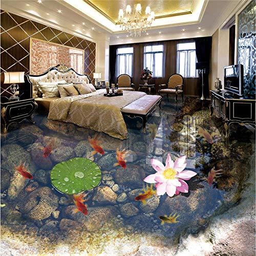 papel tapiz murales personalizados de cualquier tamaño foto moderna y minimalista peces dorados estanque pequeño baldosas 3d espesar 350x245cm