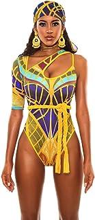 Vrouwen Tribal Print Swimsuit Bikini African Metallic Swimwear Badpak Push Up Strapless One Piece Monokini Trikini Swimwear Beachwear