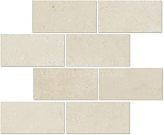Crema Marfil Spanish Marble 3 X 6 Subway Field Tile, Polished