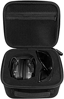 Travel Case Compatible Howard Leight Impact Sport OD Electric Earmuff and Genesis Sharp-Shooter Shooting Glasses, [ Also F...