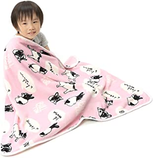 Alcea Rosea Coral Fleece,Animal Theme, Gift Style, Cartoon,Newborn,Baby Blanket 40''x 29'' (Pink Bulldog)