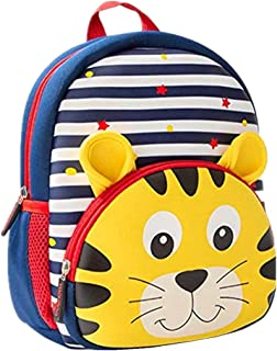 Toddler Backpack Waterproof Preschool Backpack 3D Cute Cartoon Neoprene Animal Schoolbag for Kids for 1-6 Years Boys Girls
