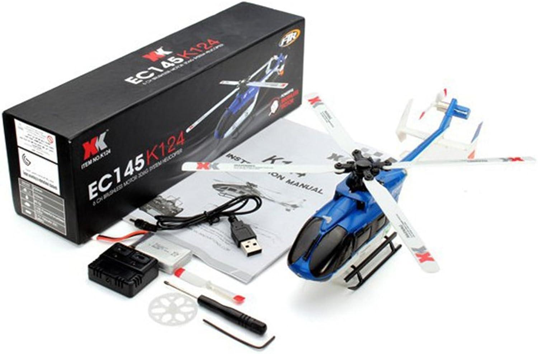 popular RONSHIN Juguetes XK K124 RC Drone BNF sin transmisor 6CH 6CH 6CH Motor sin escobillas 3D Sistema de helicóptero Compatible con FUTABA S-FHSS BNF  conveniente