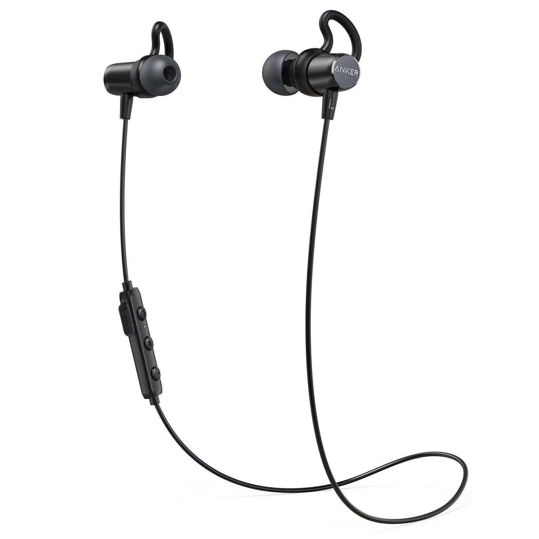 Anker sonido de Bluetooth auriculares auriculares en oreja Auriculares magnético con 6 horas de tiempo de reproducción/impermeable/micrófono para iPhone, iPad, Samsung, Nexus, HTC y más: Amazon.es: Electrónica