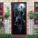 YMXRZDM Adhesivo Puerta 3D Ciencia ficción Etiqueta de la Puerta Autoadhesivo PVC Murales Carteles Pegatinas de Pared DIY Decoraciones para Sala Dormitorio 77 x 200 cm