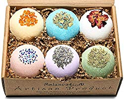 organic bath bomb gift set