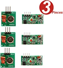 WINGONEER 3Pcs 433MHz RF Wireless Transmitter and Receiver Module Kit for Arduino Raspberry Pi