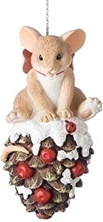 Charming Tails Mouse on Pinecone Ornament