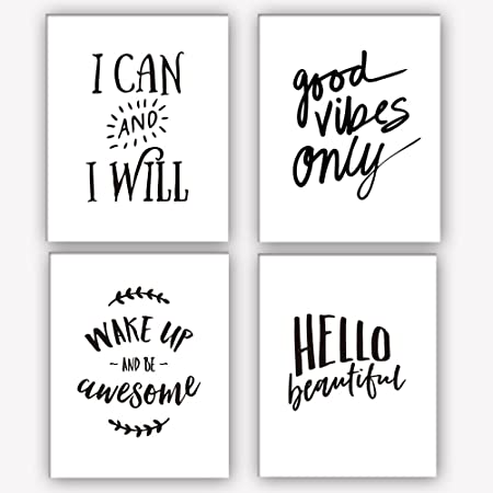 Motivational Kind Quote Typography SINGLE CANVAS WALL ART Picture Print