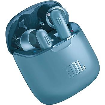 JBL Tune 220TWS – Ecouteurs Pure Bass sans fil – Appels stéréo mains libres grâce au bluetooth – Autonomie pendant 20 hrs avec l'étui de recharge – Bleu