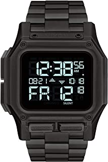 NIXON Regulus SS A1268 - All Black - 100 Meter / 10 ATM Water Resistant Men's Digital Watch