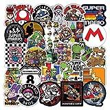 LIANGJIAN Mario Sticker 100 unids/lote Anime Mario Juego Pegatinas DIY Viaje Monopatín Maleta Guitarra Equipaje Portátil Impermeable Pegatinas para Niños Juguete Regalo