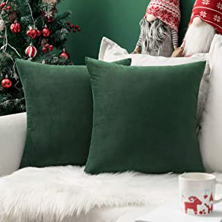 Emerald Green Velvet Pillow Cover