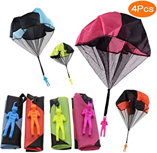 Sunshine smile inder Hand werfen Fallschirm, 4 × Hand werfen Fallschirm Spielzeug,Kinder Fallschirm,Spielzeug Kinder! 4PCS-1