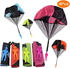 Sunshine smile Kinder Hand werfen Fallschirm, 4 × Hand werfen Fallschirm Spielzeug,Kinder Fallschirm,Spielzeug Kinder! 1