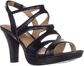 Naturalizer Womens Dianna Solid Caged Slingback Sandals