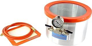 GlassVac 2 Gallon Aluminum Vacuum Degassing Chamber for Wood Stabilizing