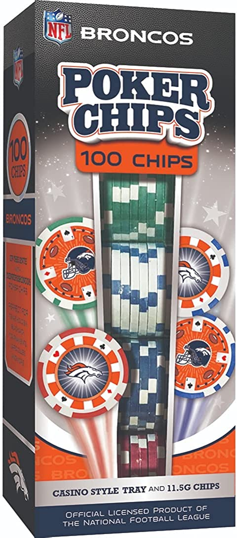 MasterPieces NFL Team Super popular specialty store Lowest price challenge Logo Poker Chips Casino-Style 100-Piece