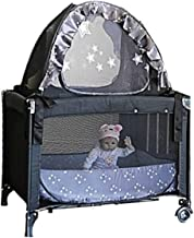 Popup Mini Cribs Tent - Pack n Play Travel Tent to Keep Baby from Climbing Out - Portable Ready to use on Vacation - Nursery Mosquito Net Baby Canopy Netting Cover a Must When Staying with Family