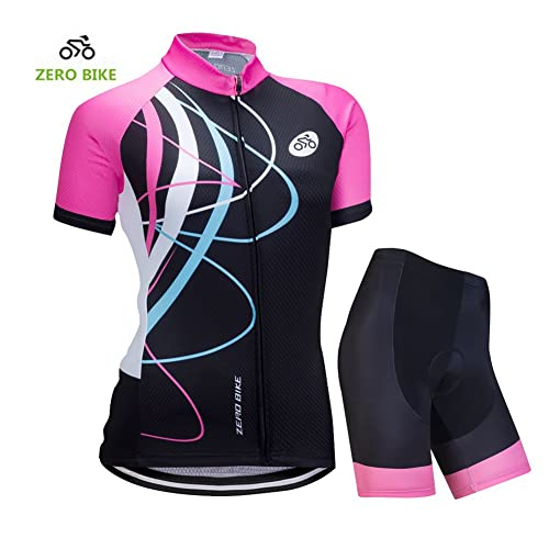 Jerseys Cycling L Cycling Jersey Womens Short Sleeve Jacket Top Cycling Shirt Quick Dry Breathable Bike Clothing