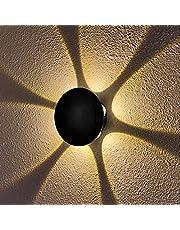 KAYIMAN 18W LED Wandlamp Moderne Wandlamp IP65 Waterdichte Wandverlichting Spot Licht Buiten Wandkandelaar voor Woonkamer Binnen Trap Pad Warm Wit(zwart)