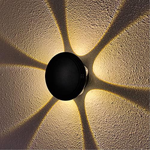 KAYIMAN 18W LED Aplique de pared Apliques de pared moderno IP65 Iluminación de pared impermeable Luz puntual Lámpara de pared exterior para sala de estar interior Escalera Camino Blanco cálido