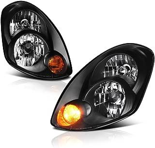VIPMOTOZ Black Housing OE-Style Headlight Headlamp Assembly For 2005-2006 Infiniti G35 Sedan Xenon HID Model, Driver & Passenger Side