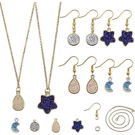 5 Pairs Crystal Glass Earring,Crystal Glass Earring Hooks,For making Earrings