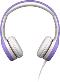 LilGadgets Connect+ Premium Volume Limited Wired Headphones with SharePort for Children - Purple