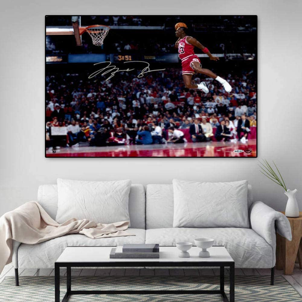 WKHRD Fresno Mall Basketball shop Star Poster Flying Wall S Dunk Picture Painting
