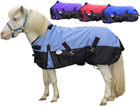 Derby Originals 600D Medium Weight Mini Horse and Pony Turnout Blankets with Warranty - Designed with Waterproof Ripstop Nylon -Medium Weight 200g Polyfil