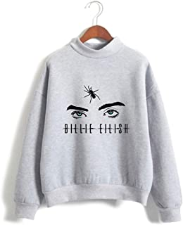 Unisex Billie Eilish When We All Fall Asleep Where Do We Go Round Necklace Hoodie Sweatshirt for Fans